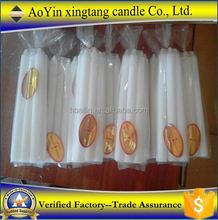 9g 10g 12g 14g 16g 18g 20g Africa market white candle hot sell