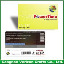 Pvc-barcode-karte, hervorragende Textur drucken spielkarten, pvc-id-karte