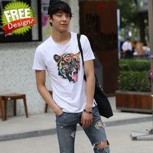 fashion round neck t-shirt cotton t-shirt factory outlets can be customized men tshirt printed