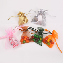 2015 Most Popular Cute Sweet Packing Pouch Soft Silk Organza Bags
