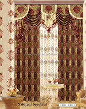 New luxury different styles of cartains day curtain design