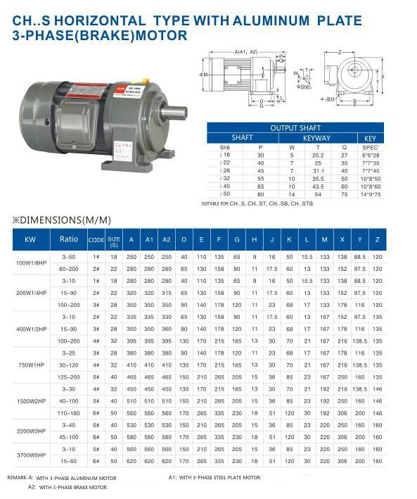 gear motor horizontal type with aluminum shell motor,gear speed reducer ac motor
