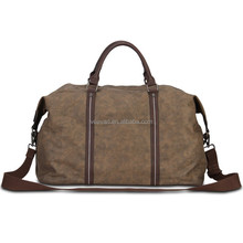 New design coffee canvas travelling duffle bag