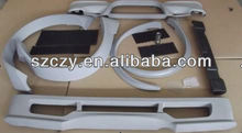 PU+ABS+Aluminium Alloy Front & Rear Bumper, Fender Flares /Front Bumper Stents /Grille / Tail Throat For Benz Smart Fortwo