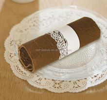 Popular design wedding party decoration eco-friendly laser cut pearl paper napkin rings for wedding party decoration