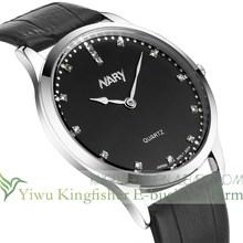 2015 New imitation diamond dial watch face men leather strap watch High quality quartz leather strap watch good price
