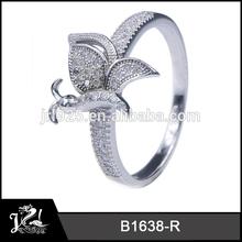 anillo de plata esterlina libélula anillos de compromiso