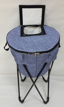 Folded stand cooler bag for picnic or camping with a top small openner
