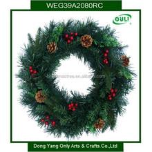 "18"" Luxury Christmas Party Pine Wreath Door Wall Decoration"