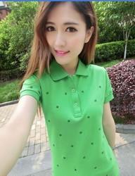 2015 Wholesale Garment For Playing Badminton,Custom Fashion Women's Polo Shirt