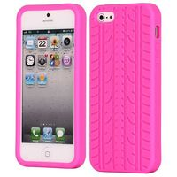 Solid Color Design Tire Pattern Silicone Case for iPhone 5 5S