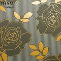 Não- tecido de amarelo e cinza flor não- tecido resistente ao calor wallpaper design