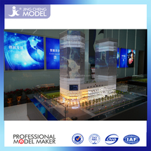 Commercial & Office building model in scale 1:75 with interior layout