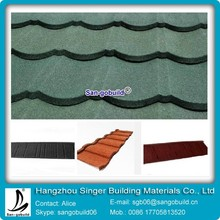 SGB high quality Recycled metal roof tiles/stone coated steel roof tile /aluminum tile roof