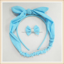 Fashion Hair Accessories for Kids Baby Bows Clip Knotted Elastic Hair Band Baby Headbands