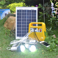 Modern design charging function for led light 10w portable solar system
