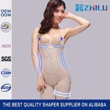 Silk-screen detachable straps slimming vest hip butt lift body shaper suit