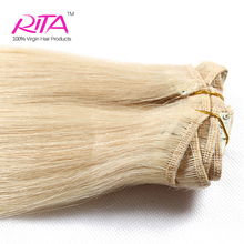 Direct Manufacturer Wholesale 100% Clip In Human Hair Extension Light Blonde hair