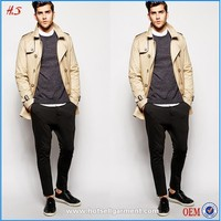 Cool Men's Belted Trench Coat Product Make in China