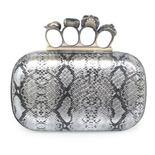 Fashion design pu Skull Clutch Bag for women
