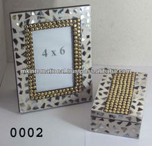 Leather Picture Frame & Multipurpose Box Set