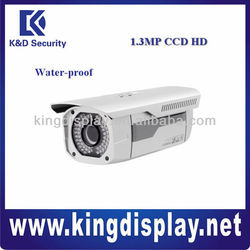 Cost-effective 1.3Mp CCD 720P HD Water-proof IR Network Camera for guarden home use