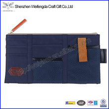 Polyester Car Sun Visor Organizer With Card Holder And Pen Loop