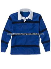 MEN'S RUGBY POLO SHIRT WITH ELASTICATED SLEEVE CUFFS