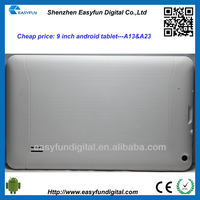 Cheap price 9 inch Allwinner A13 android tablet pc,tablet pc android driver, China mainland manufacturer
