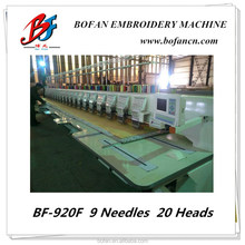 new technology computer operation 20 head flat embroidery machine for sale