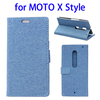 OEM service Linen Texture leather mobile case for Moto X Style flip cover