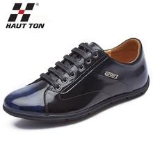 Color change genuine leather cool men fashion shoes