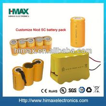 ni-cd sc 1500mah 14.4v rechargeable battery pack