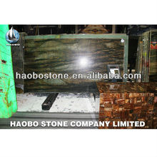 Haobo dark brown marble big slab with fine quality