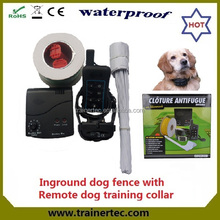 rechargeable and waterproof wireless electric dog fence & 300 meter remote dog training collar