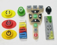 Silicone Keypad with carbon pill for conduction