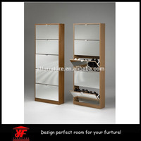 Modern ikea fashionable cheap shoe cabinet with mirror