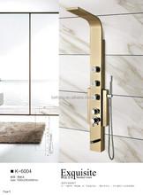 New design gold plate polish Dubai shower screen (K6004)