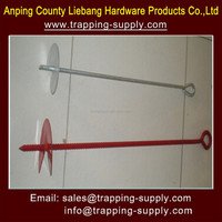 """18"""" EARTH GROUND ANCHOR AUGER STAKE & RING TRAP SNARE TRAPPING SNARING SPIKE"""