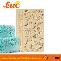 Lsm2211 Lovely Flower Silicone Lace Mat Mould Fondant Cake Decorating