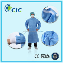 Medical use waterproof disposable standard surgical gown with knitted cuff and have ISO 13485/FDA/CE/NELSON]