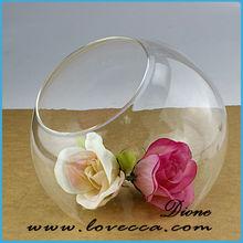 Professional manufacturer for big cylinder decorative glass vase / beautiful glass vase / ball shaped glass flower vase