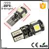 High brightness 3 chips Error Free Slim 12v Canbus pro ballast HID xenon kit T10 5SMD 5050 led canbus