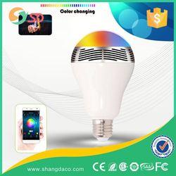 Shangda iPad iPhone Android Mobile control e27 rgb led lamp bulb