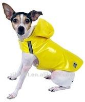 yellow PU dog raincoat
