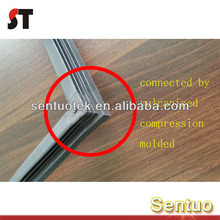 High Tensile Rubber Extrusion Profile Vulcanized Bonded for Cabinet Sealing