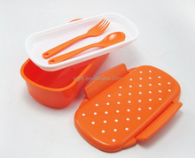 Sealed students lunch box fork and scoop