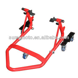 Motorcycle Rear Stand Dolly with V Shape Hardware L Shape Hardware Paddock Stands SMI3211