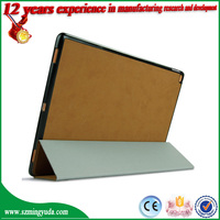 Factory New Arrival Ultra Thin Tri-folding Tablet PU Leather Smart Cover for iPad Pro