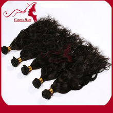 Full cuticle double drawn shedding free indian human remy hair weft